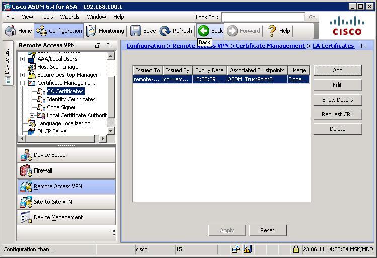 Cisco vpn server получение сертификата стандартизация и сертификация томатных овощей